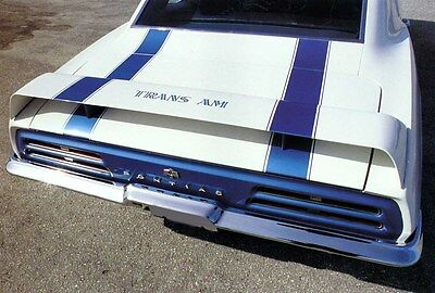 "1969 Trans Am / Camaro ""Trans Am Style"" Trunk Lid Rear Spoiler - 3 Piece - New"