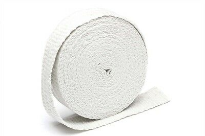 TA TECHNIX HEAT PROTECTION TAPE EXHAUST PIPE WHITE CERAMIC ROLL 10M X 2in x