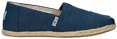 Toms Classic Navy Washed Womens Canvas Espadrilles Shoes