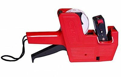 Metronic Mx5500 Red 8 Digits Labeler Price Tag Gun Labeller Included Labels &