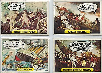 Hysterical History: Lot of 65 Stickers and Cards, (see description)