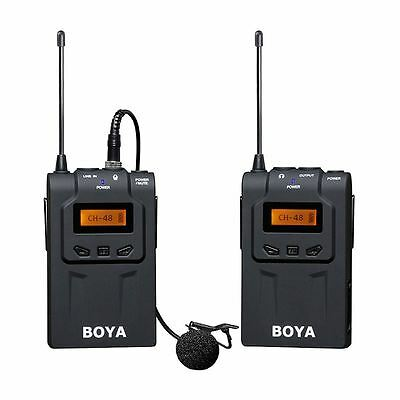 BOYA BY-WM6 Pro UHF Wireless Lav Microphone System for ENG/EFP DSLR/Cam/Gopro