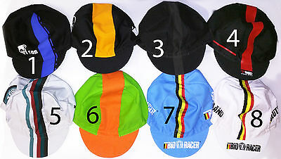 CYCLING BIKE CYCLE TEAM CAP - MADE IN ITALY - (Vintage - Fixed Gear)