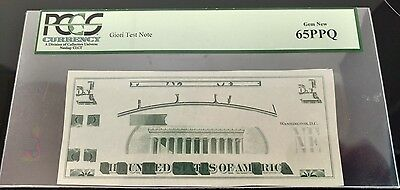 Giori Test Note Very Rare At This Grade Pcgs 65 Ppq Gem New Very Rare