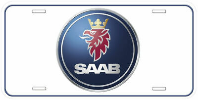 Saab Aluminum Novelty Car License Plate Black-White-Yellow-Gold-Silver