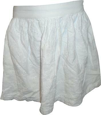 USED Girls George White Skirt Size 6-7 Yrs (C.L)