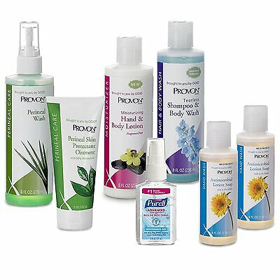 PROVON In-Home Caregiver Kit - Contains Purell Hand Sanitizer, Soap, Shampoo,