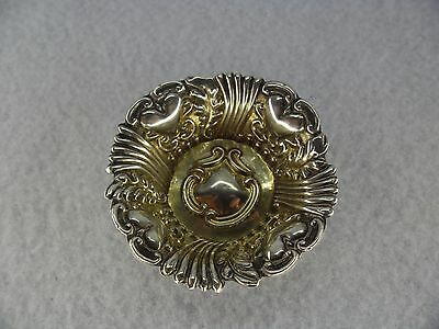 Embossed Sterling Solid Silver Pin Dish, Birmingham 1900