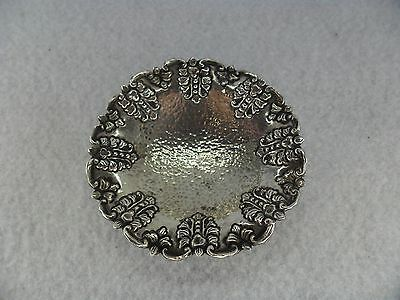 Yogya Hammered & Embossed Solid Silver Pin Dish