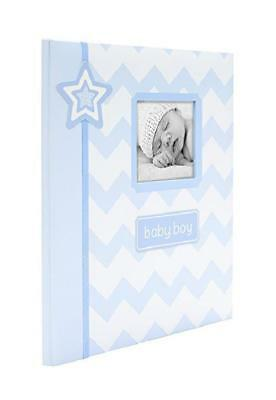 Lil' Peach Dream Big Chevron Baby Memory Book Pictures Photos Album Gift Gray