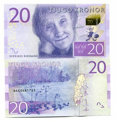 Sweden 20 Kronor Nd(2015) P-New Uncirculated