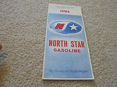 Vintage Norh Star Gas and Oil Iowa Road Map