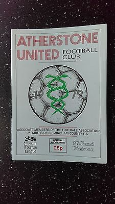 Atherstone United V Vs Rugby 1987-88