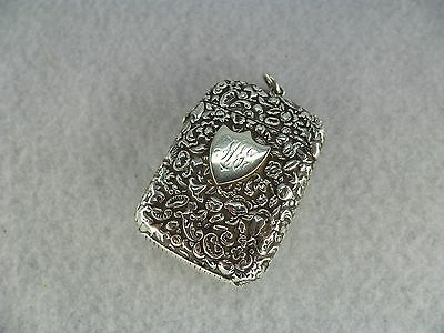 George United Sterling Solid Silver Vesta Case, Birmingham 1882