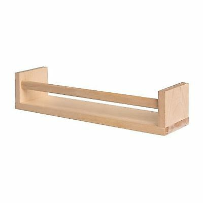 Ikea BEKVAM Wall Mounted Wooden Spice Jar Rack, Multiple Uses Can be Stained NEW