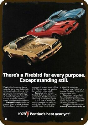 1978 PONTIAC FIREBIRD Vintage Look Replica Metal Sign  ESPRIT  FORMULA  TRANS AM