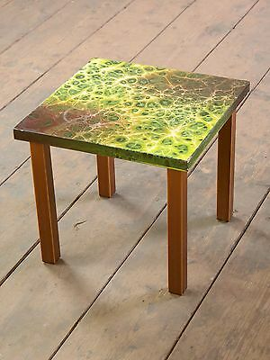 alter Retro Mid Century Nierentisch Blumenhocker Hocker Stool Vintage Table B