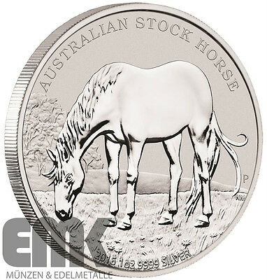 Australien - 1 Dollar 2016 - Stock Horse (4.) - Perth Mint - 1 Oz. Silber Stgl.