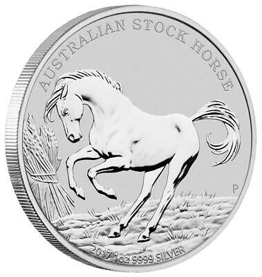 Australien - 1 Dollar 2017 - Stock Horse (5.) - Perth Mint - 1 Oz. Silber Stgl.