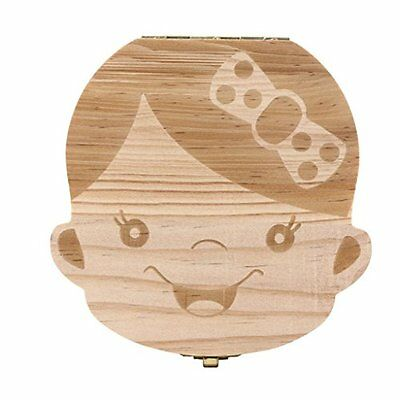 Voberry Tooth Box organizer for baby Milk teeth Save Wood storage box for kids