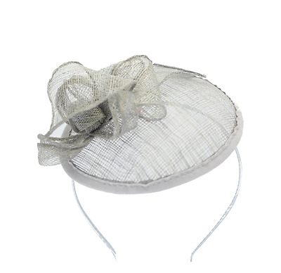 Silver Fascinator on Headband/ Clip-in for Weddings, Races and Occasions-5350