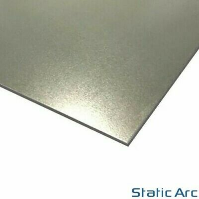GALVANISED MILD STEEL SHEET METAL SQUARE PLATE PANEL RUSTPROOF 1/1.5/2/3mm THICK