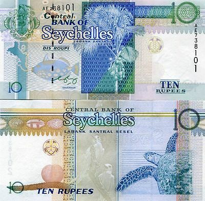 SEYCHELLES 10 RUPEES ND(1998)(2005) P-36b UNCIRCULATED