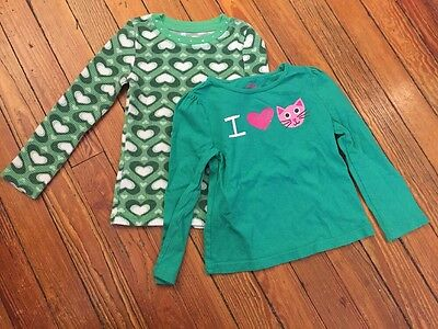 2 Children's Place And Circo Girls' Long Sleeve Shirts Size 4T