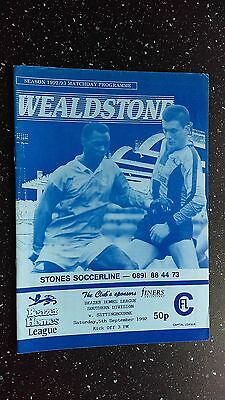 Wealdstone V Sittingbourne 1992-93