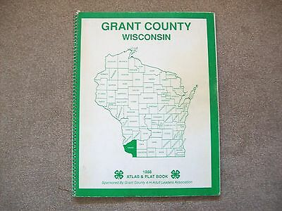 Atlas and Plat Book 1988 Grant County Wisconsin 4 H Club sponsored Softcover