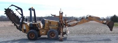 1998 Case 560 Trencher with Carbide Chain, D125 backhoe attachment,6-way backfil