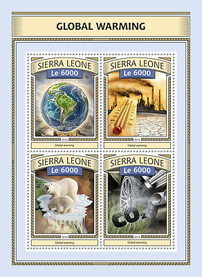 Sierra Leone 2016 MNH Global Warming 4v M/S Polar Bears Wild Animals Stamps