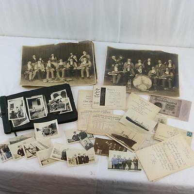 Jazz Band Archive Photo Album 1920s Harry Braun Letters New York S.S. Republic