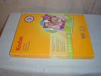 "Kodak Inkjet Glossy Photo Paper 8.5"" x 11"" 100 Sheets"