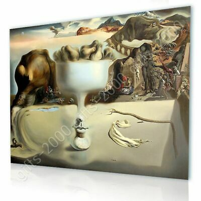 Apparition Of Face Fruit Dish by Salvador Dali | Canvas (Rolled) | Wall art HD