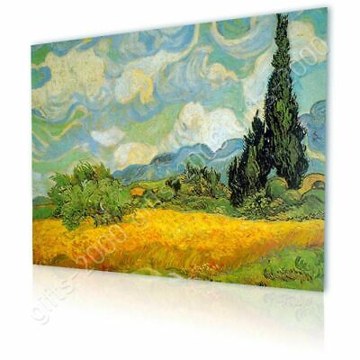 Wheat Field With Cypresses by Vincent Van Gogh | Canvas (Rolled) | Wall art HD