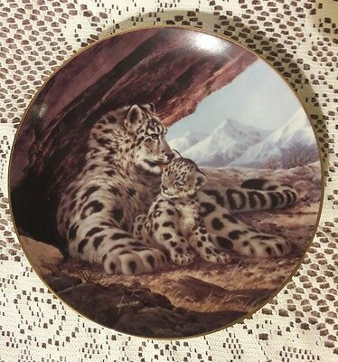 The Snow Leopard Will Nelson 1989 Last of Their Kind Collectible Plate 2nd Ed.