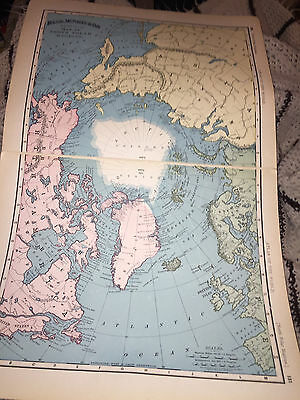 1898 RAND McNALLY MAP OF THE NORTH POLE REGIONS