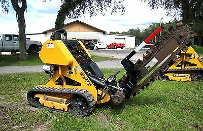 2011 BOXER 118 Ride On / Walk Behind Crawler Trencher w/ Tracks, Low Hours