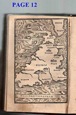 1540's maps of  Italy, Galilee, Asia, Turkey, Africa, & Sicily by J. Honter