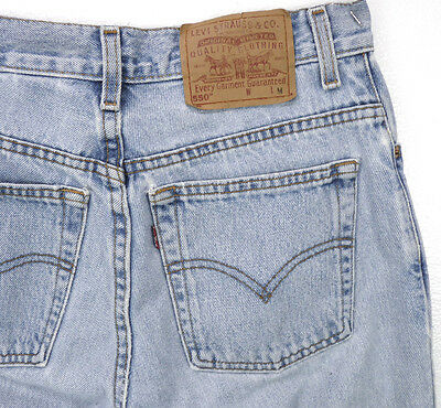 Vintage 80s LEVIS 550 Relaxed Fit Tapered Leg High Waist Mom Jeans 9 M 30x31