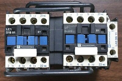 Telemecanique LC2D1801 10HP Reversing Contactor - Used VG Working Condition