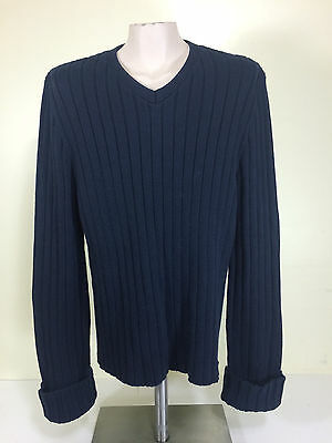 Abercrombie and Fitch Mens Cotton Acrylic Sweater S Small - Blue