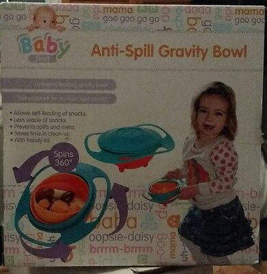 Baby first Anti Spill Feeding Toddler Gyro Bowl Avoid Food Spilling 360 Rotating