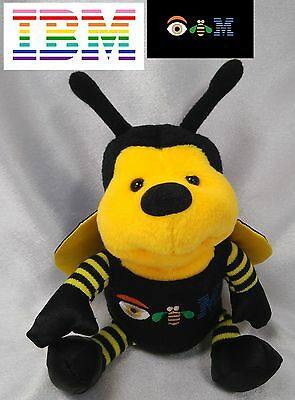 Rare VINTAGE Bumble Bee Bear plush IBM Logo 1996 Paul Rand Design Advertising