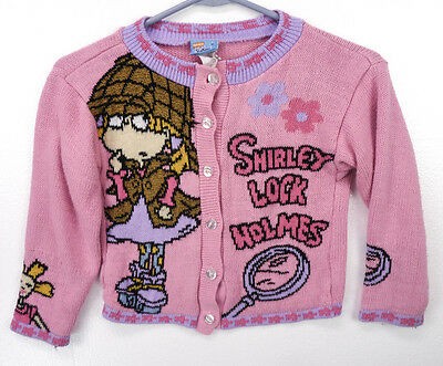 Vintage 90s RUGRATS Cartoon Angelica 1998 Viacom Nickelodeon Sweater Girls S 4/5