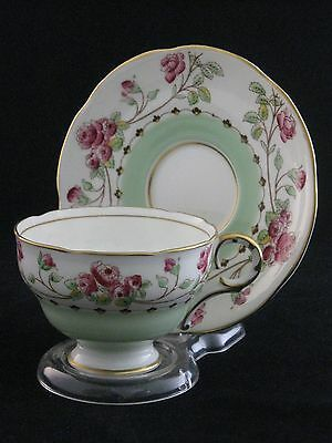 Antique Hand Painted Melba Porcelain Tea Cup & Saucer Set Made In England