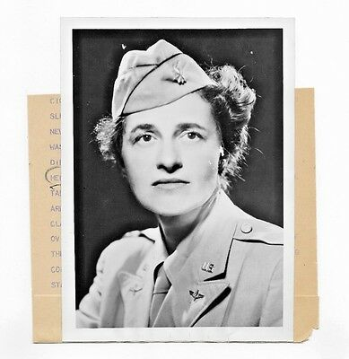 1945 Photo Ww2 New Deputy Director Of The Women's Army Corps (Wac) Lt Col Woods