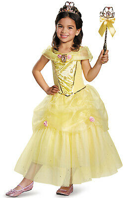 Brand New Disney Princess Beauty and the Beast Belle Deluxe Child Costume