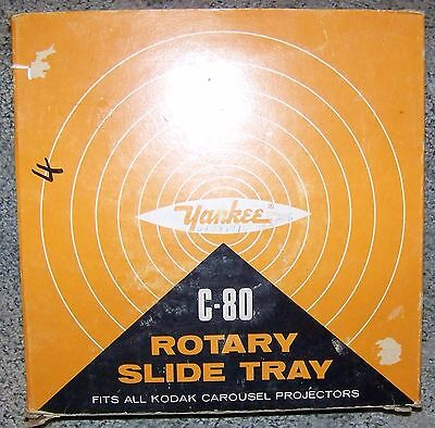 Vintage Yankee C-80 Rotary Slide Tray For Kodak Carousel Projectors, With Box